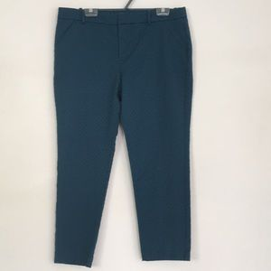 Mossimo Teal Blue Ankle Pants Cropped Pockets 16